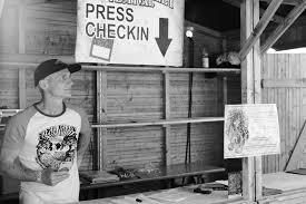 Rock Freak Chris Zimmer am Presse Check in