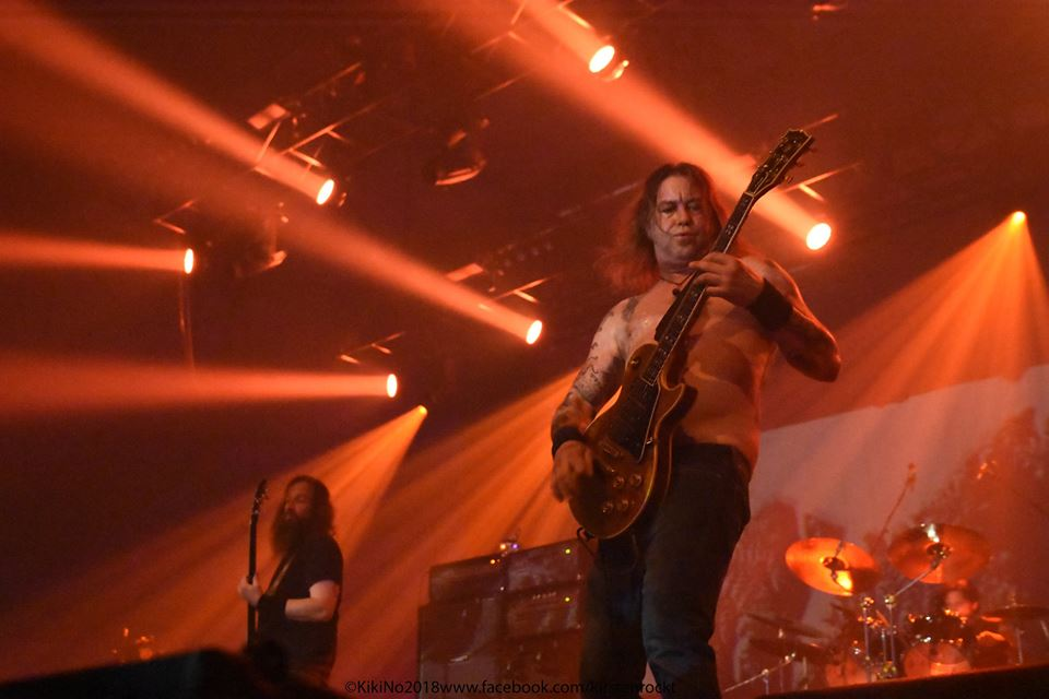 Matt Pike von High On Fire auf der Desertfest-Bühne in Berlin 2018